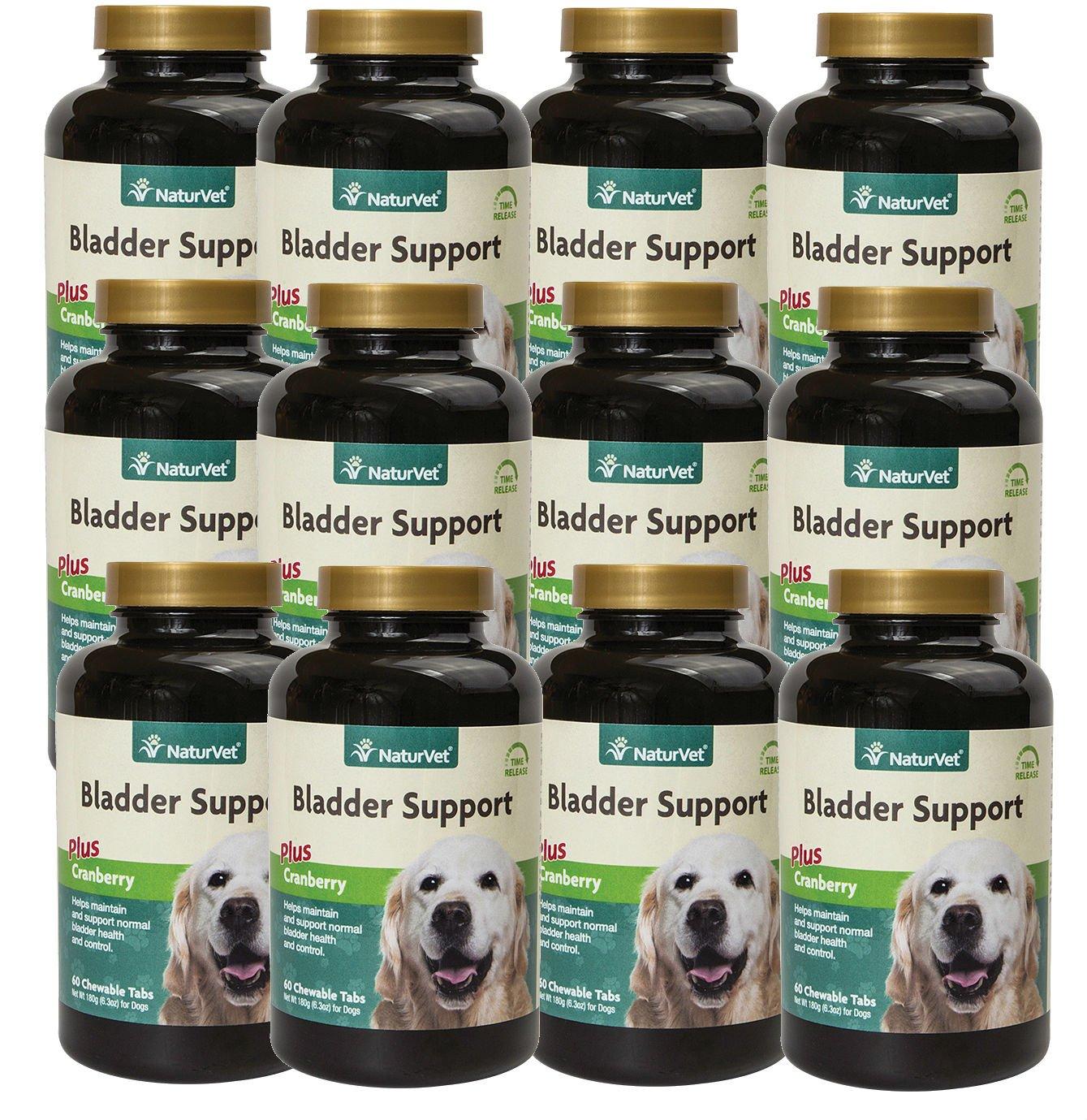 NaturVet Senior Dog Natural BLADDER SUPPORT with Cranberry 60 Tablets 12 PACK