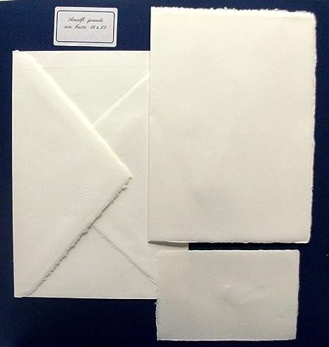 432019dfb09c Cartotecnica Italiana Partecipazioni Matrimonio Carta Amalfi cod. 1623  Produzione Artigianale Set Composto da 10 partecipazioni