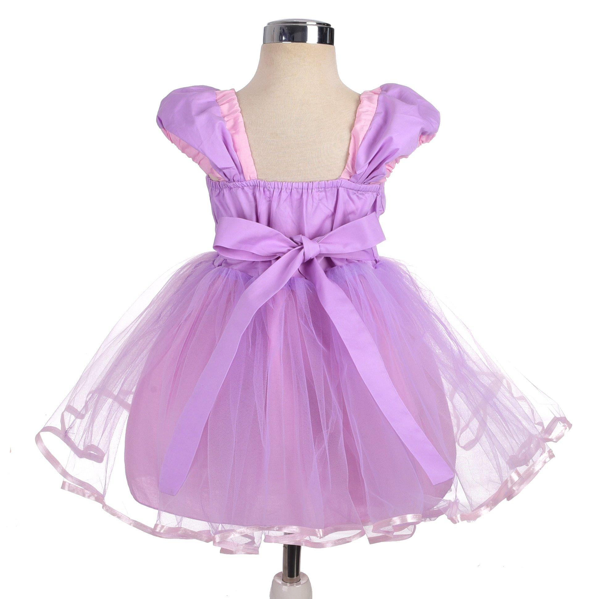 Dressy Daisy Girls Princess Rapunzel Dress Costumes for Toddler Girls Halloween Fancy Party Dress Size 4T by Dressy Daisy (Image #2)