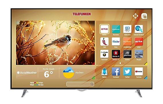 Telefunken D65U400N4CW 164 Cm 65 Zoll Fernseher 4K Ultra HD Triple Tuner Smart TV Amazonde Heimkino Video