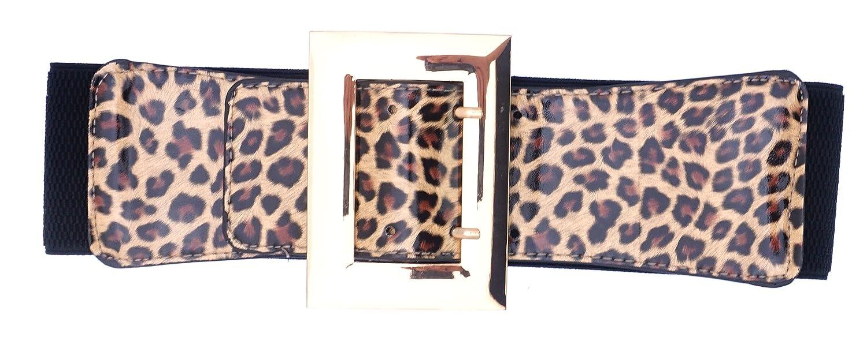 BlingKicks Womens Leopard Animal Print Texture Stretch Adjustable