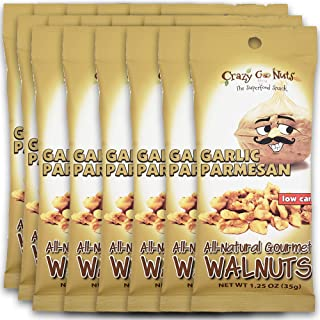 product image for Crazy Go Nuts Walnuts - Garlic Parmesan, 1.25 oz (18-Pack) - Healthy Snacks, Keto, Low Carb, Gluten Free, Superfood - Natural, ALA, Omega 3 Fatty Acids, Good Fats, and Antioxidants
