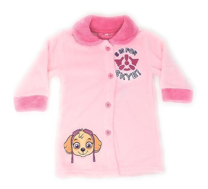 Bata pijama bebe Patrulla canina. Tejido coral (36, ROSA)