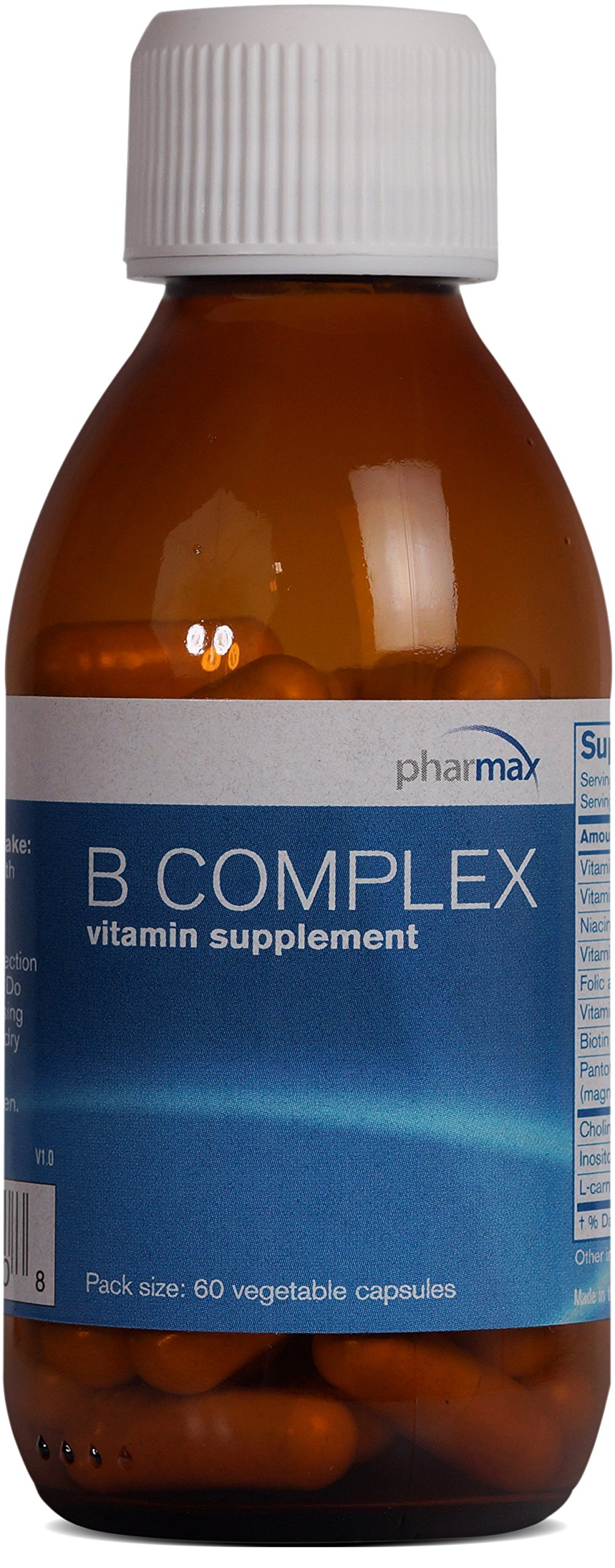 Pharmax - B Complex - Supports Energy, Nerves, Blood Cells, and Tissue Formation* - 60 Capsules