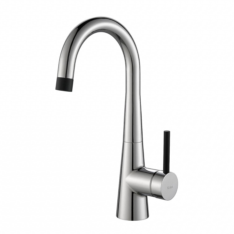 Kraus KPF-2700CH Modern Crespo Single Lever Kitchen Bar Faucet, Chrome