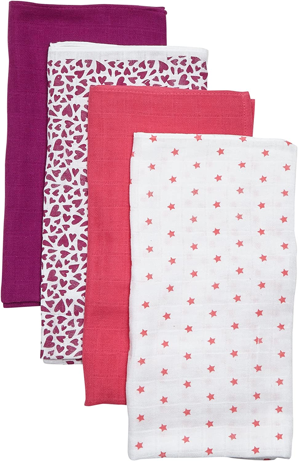 Care Baby Girls Cloth 4-Pack