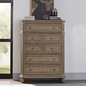 Liberty Furniture Industries Laurels Chest, 5 Drawer, Brown