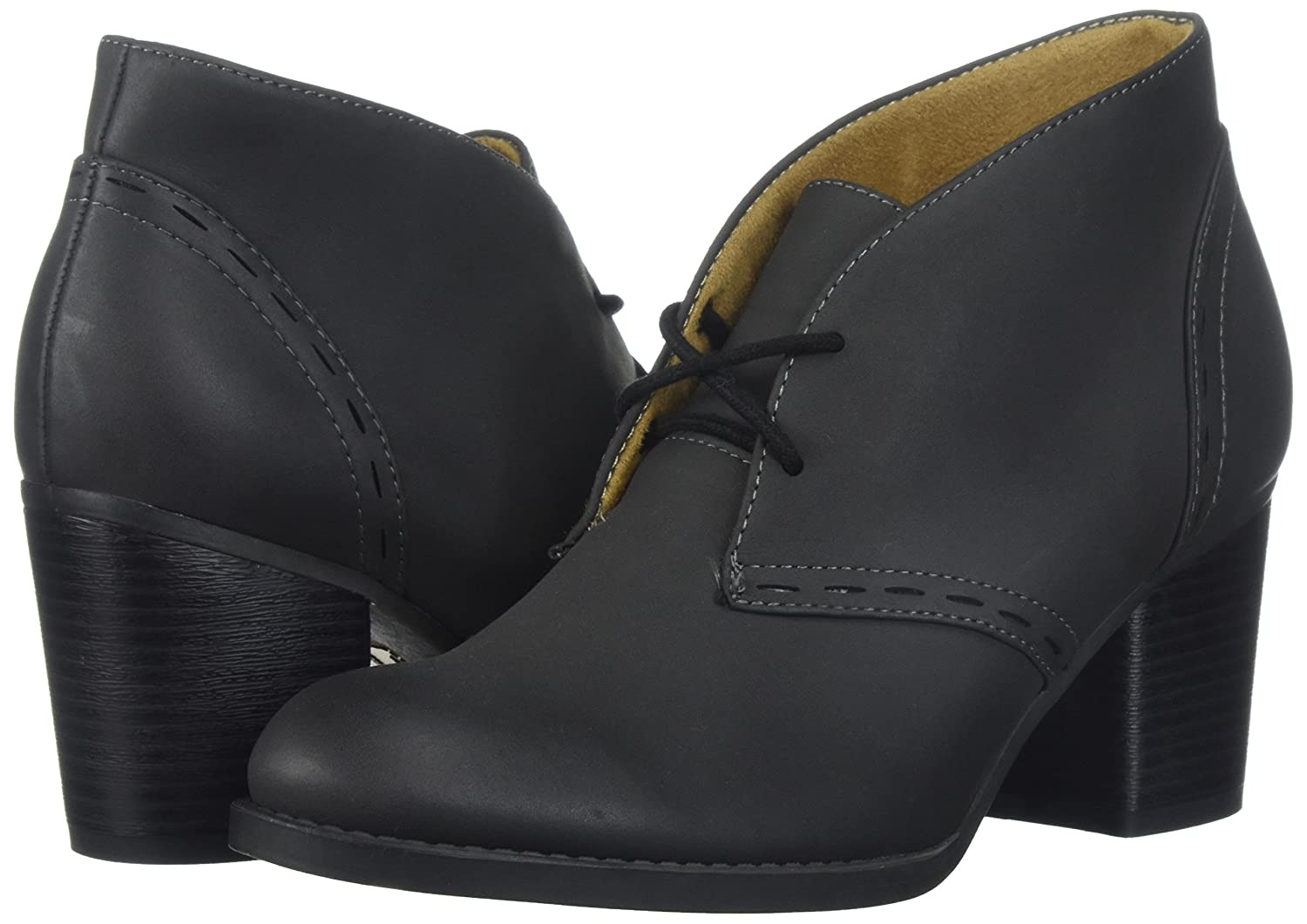 NATURAL SOUL Women's Tracy Ankle Boot B074SZ9T2C 6 W US|Black