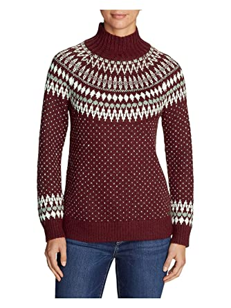 d891fa41d7407b Eddie Bauer Women s Arctic Fair Isle Sweater at Amazon Women s ...
