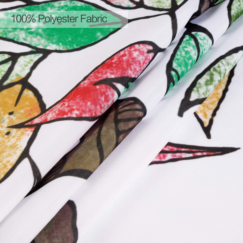 joyfeelife Fabric Shower Curtain Set Waterproof Bath Curtain for Bathroom Showers Bathtubs Home Decor with 12 Hooks, 71x71 Inch