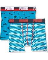 Puma Multi Logo and Stripe Print Boxer 2P unterhose