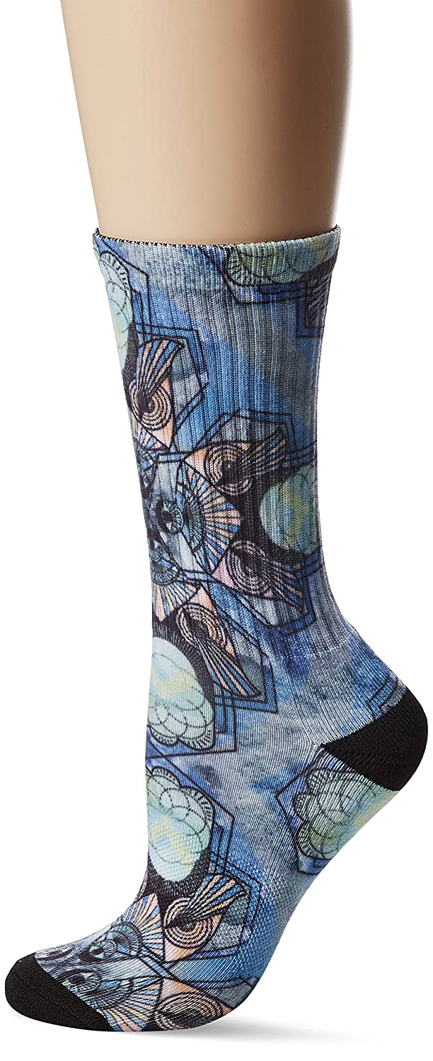 UNIONBAY Women's Fashion Print Crew Black Sock 9-11/Shoe Size 5-10 Union Bay UBL902
