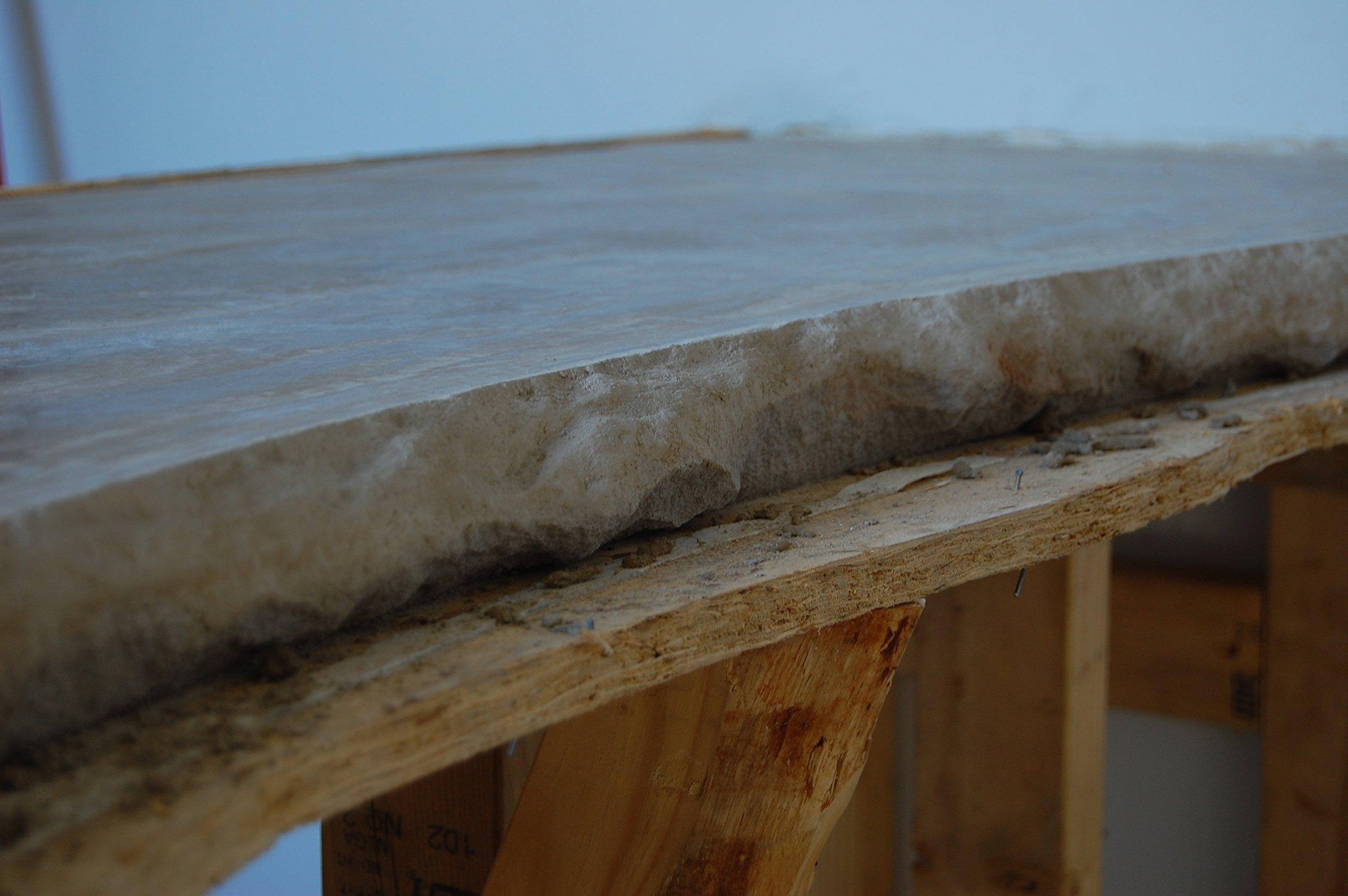 Concrete Countertop Edge Form - Aggressive Stone