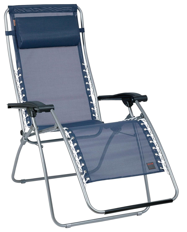 Lafuma LFM1226-3862 Relax-Liegestuhl, klappbar und verstellbar, RSXA, Ocean, dunkelblau