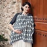 Hooter Hiders Premium Cotton Nursing Cover, Azure