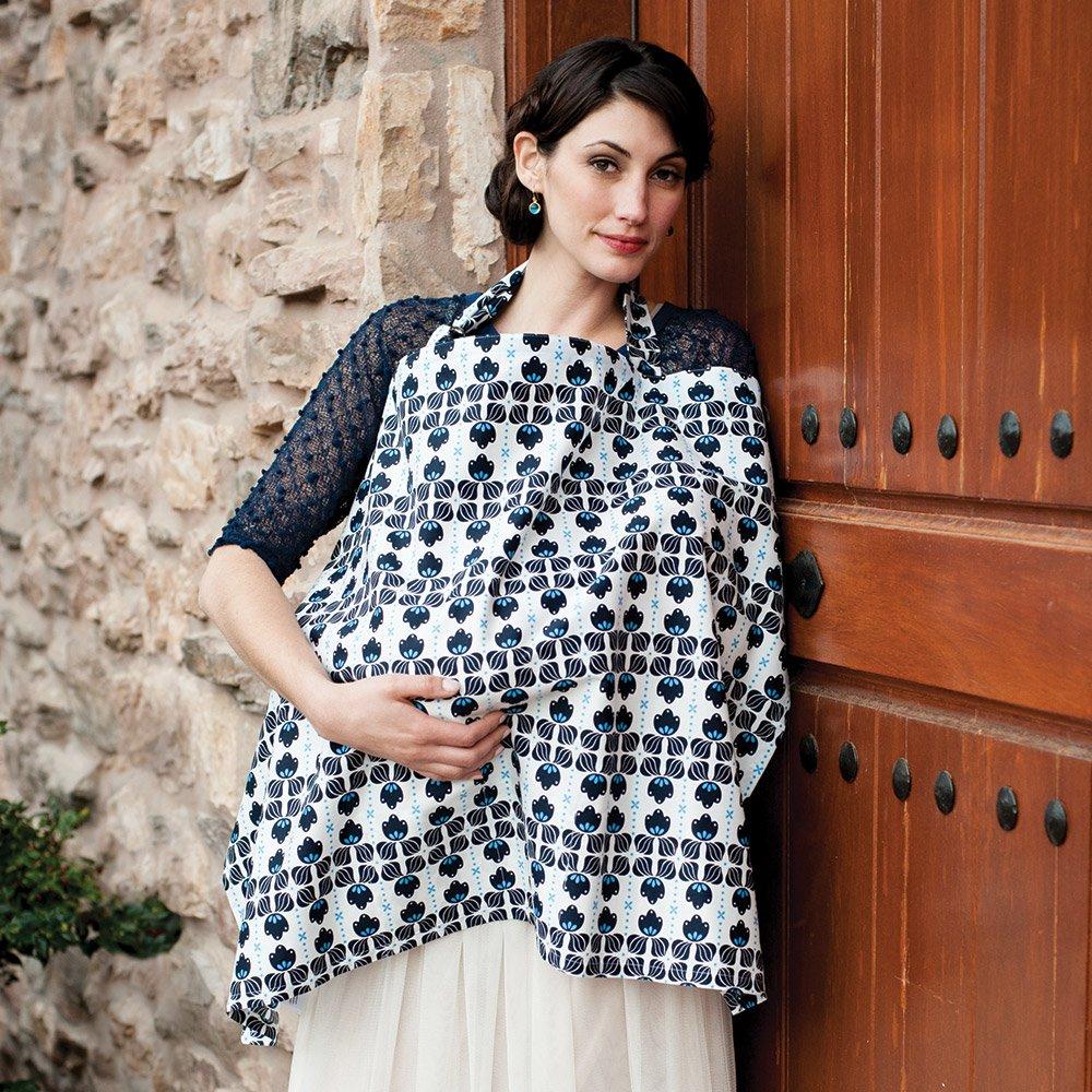 Hooter Hiders Premium Cotton Nursing Cover - Azure by Bebe au Lait