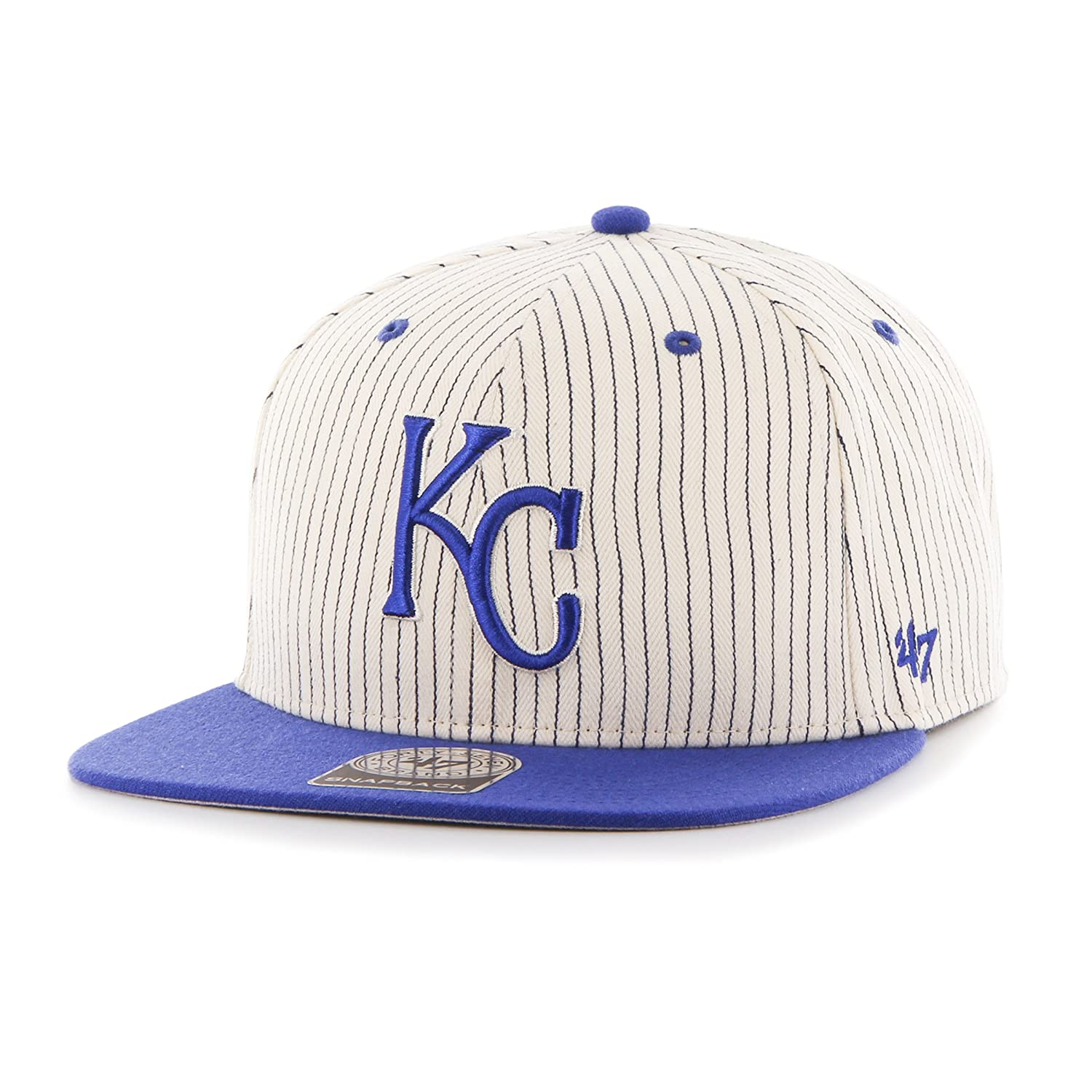 4c05c31a124 Amazon.com    47 MLB Kansas City Royals Woodside Captain Adjustable Snapback  Hat