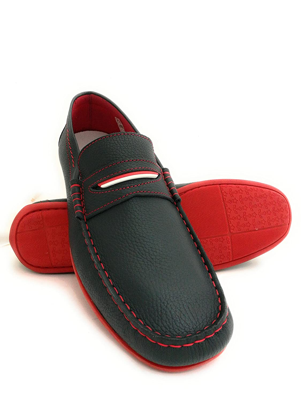 Zerimar Leder Bootsschuhe fuuml;r Herren Uuml;bergrouml;szlig;e Extra Grosse Schuhe Leder Schuhe Segelschuhe Herren  50 EU|Dunkelblau