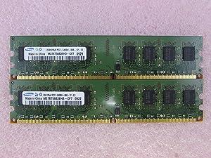 Samsung M378T5663EH3-CF7 4GB 2 x 2GB PC2-6400U DDR2 800 NonECC Unbuff Memory Kit