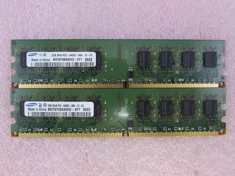 Amazon.com: Samsung m378t5663eh3-cf7 4 GB 2 x 2 GB PC2 ...