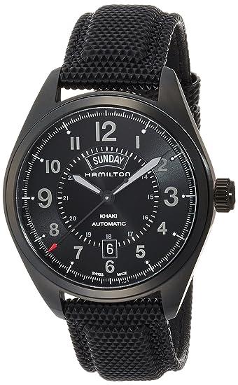 HAMILTON KHAKI FIELD RELOJ DE HOMBRE AUTOMÁTICO 42MM CORREA DE CUERO H70695735: Amazon.es: Relojes