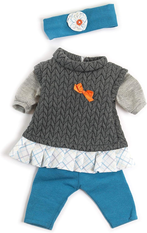 """Clothing for 15 3//4/"""" Anatomically Correct Dolls Miniland Educational Mild Weather Grey Set"""