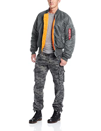 Alpha Industries Men's MA-1 Flight Bomber Jacket: Amazon.co.uk ...