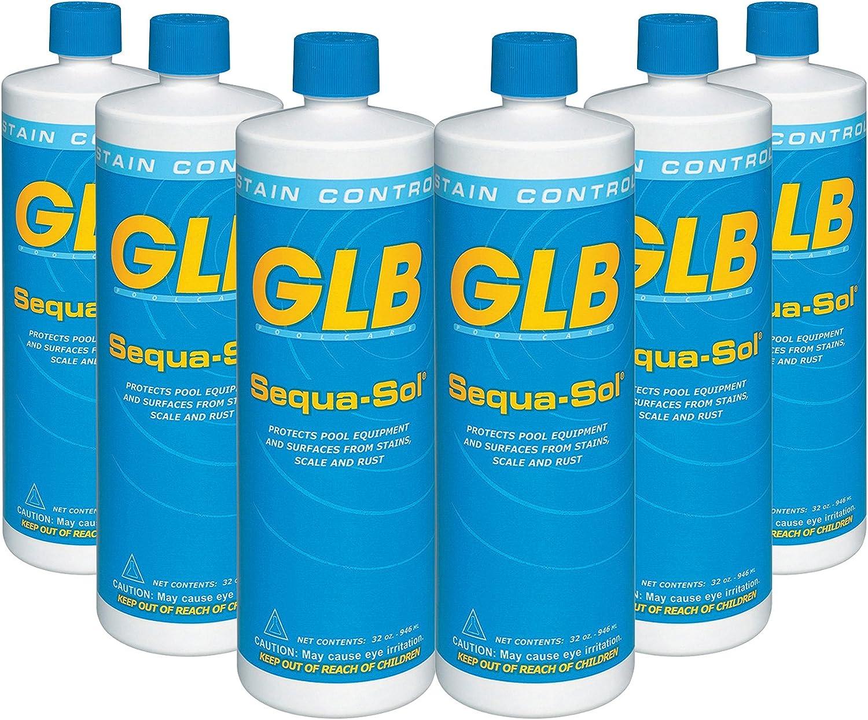 GLB 71016A-02 Sequa-Sol Sequestering Agent Pool Stain Preventer, 1-Quart, 2-Pack : Garden & Outdoor