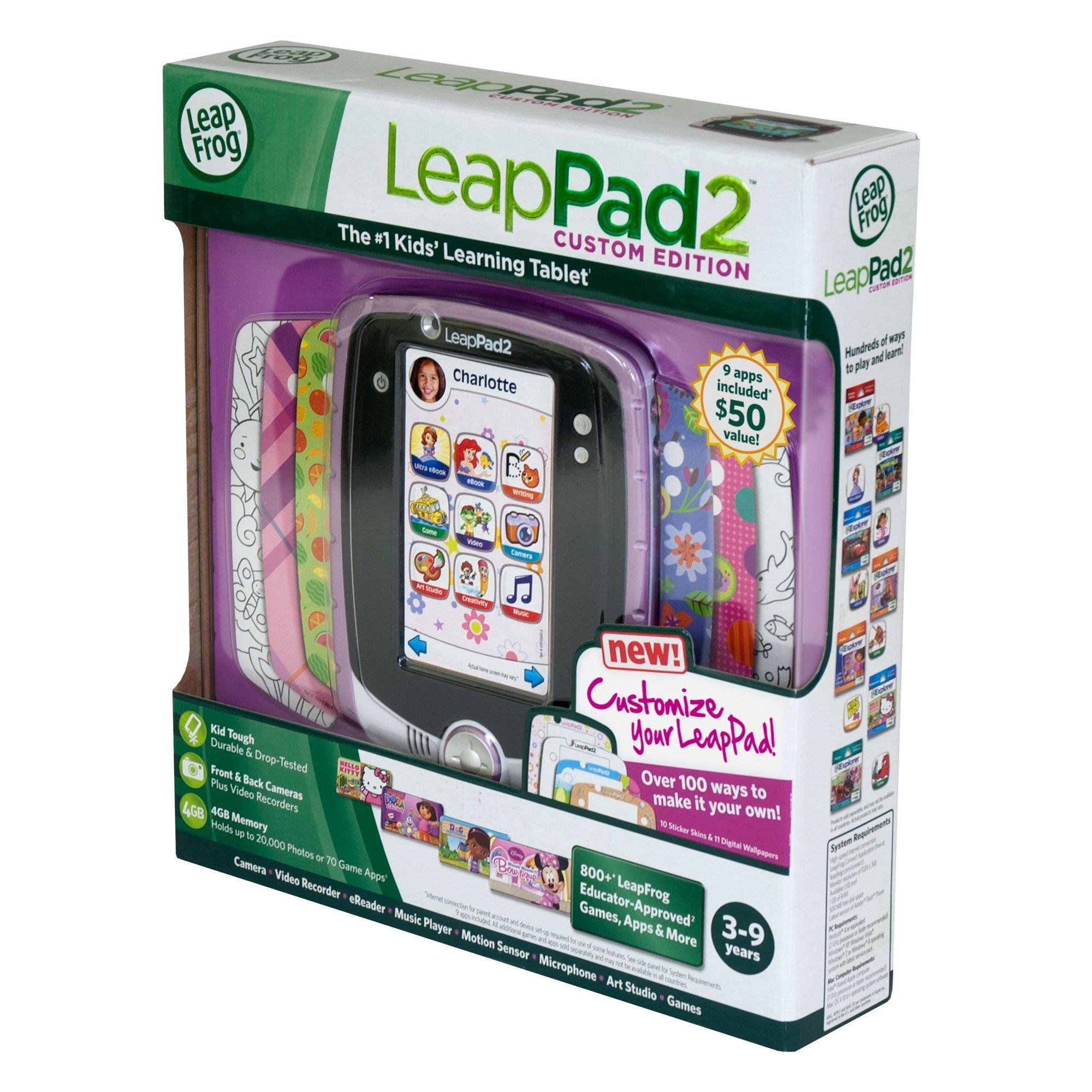 LeapFrog LeapPad2 Kids' Learning Tablet (Custom Edition), Pink by LeapFrog (Image #9)