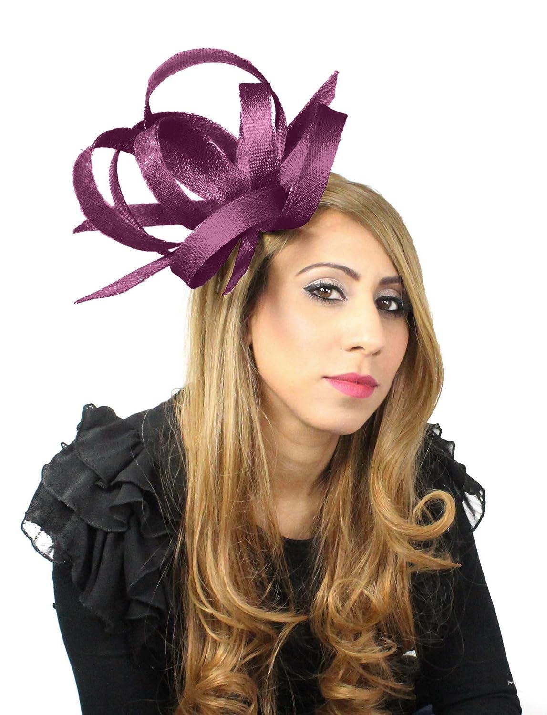 Hurricane Sinamay Ascot Fascinator Hat With Headband
