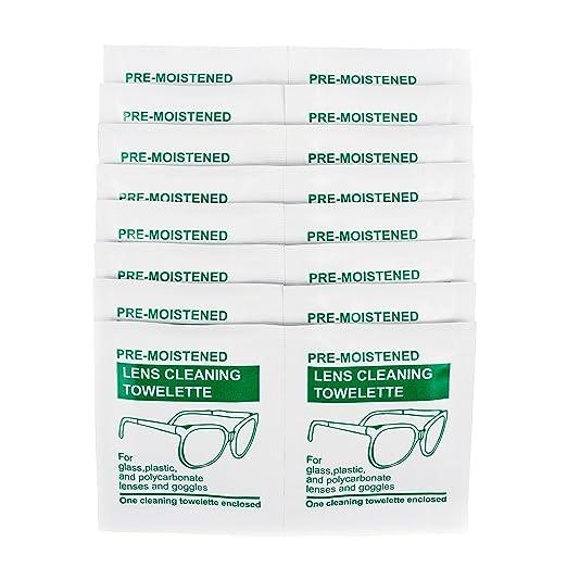 Juego De Toallitas Húmedas para Limpieza De Lentes (100 Unidades) para Limpiar Gafas O Limpiadores De Anteojos: Amazon.es: Electrónica