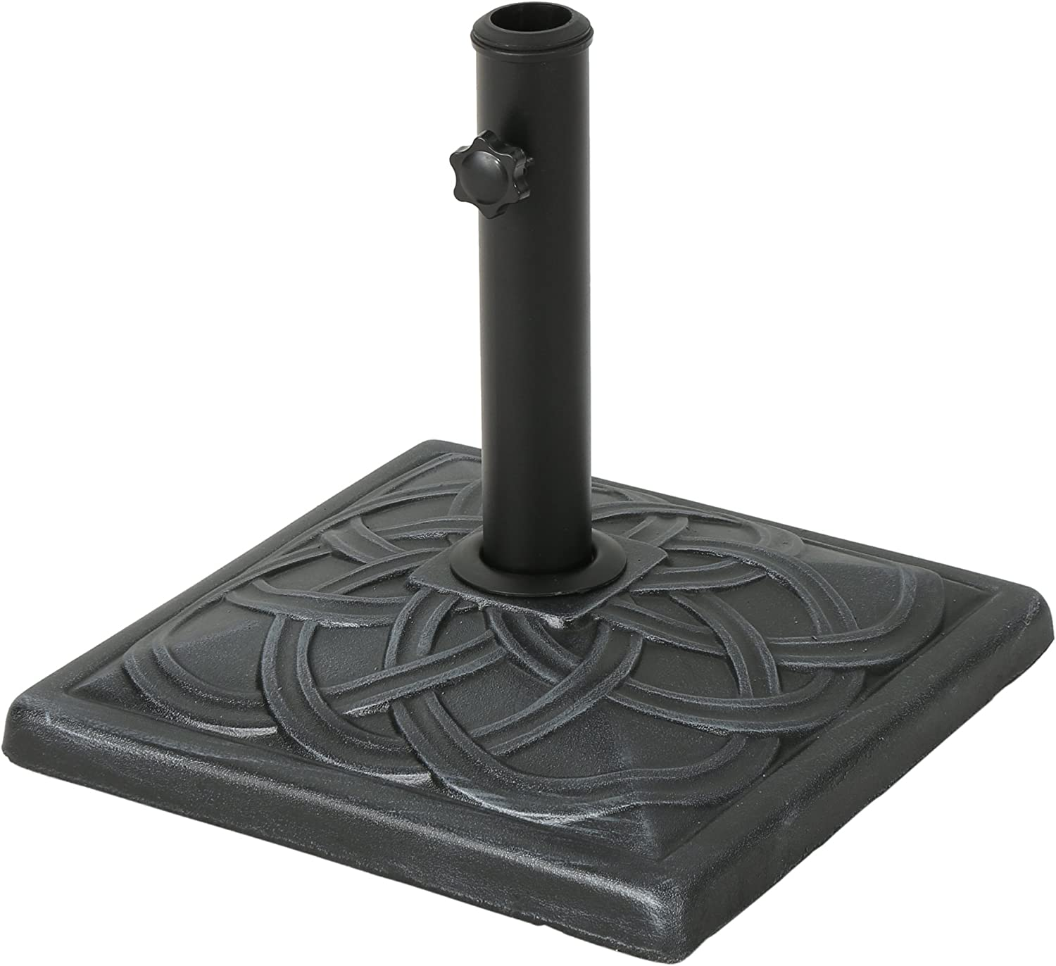 Christopher Knight Home Amaya Outdoor Concrete Square Umbrella Base 29LBS in Hammered Iron