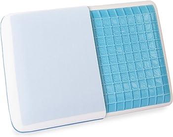 Cr Sleep Reversible Memory Foam Gel Pillow for Sleeping Cool, Standard Size, 1-Pack