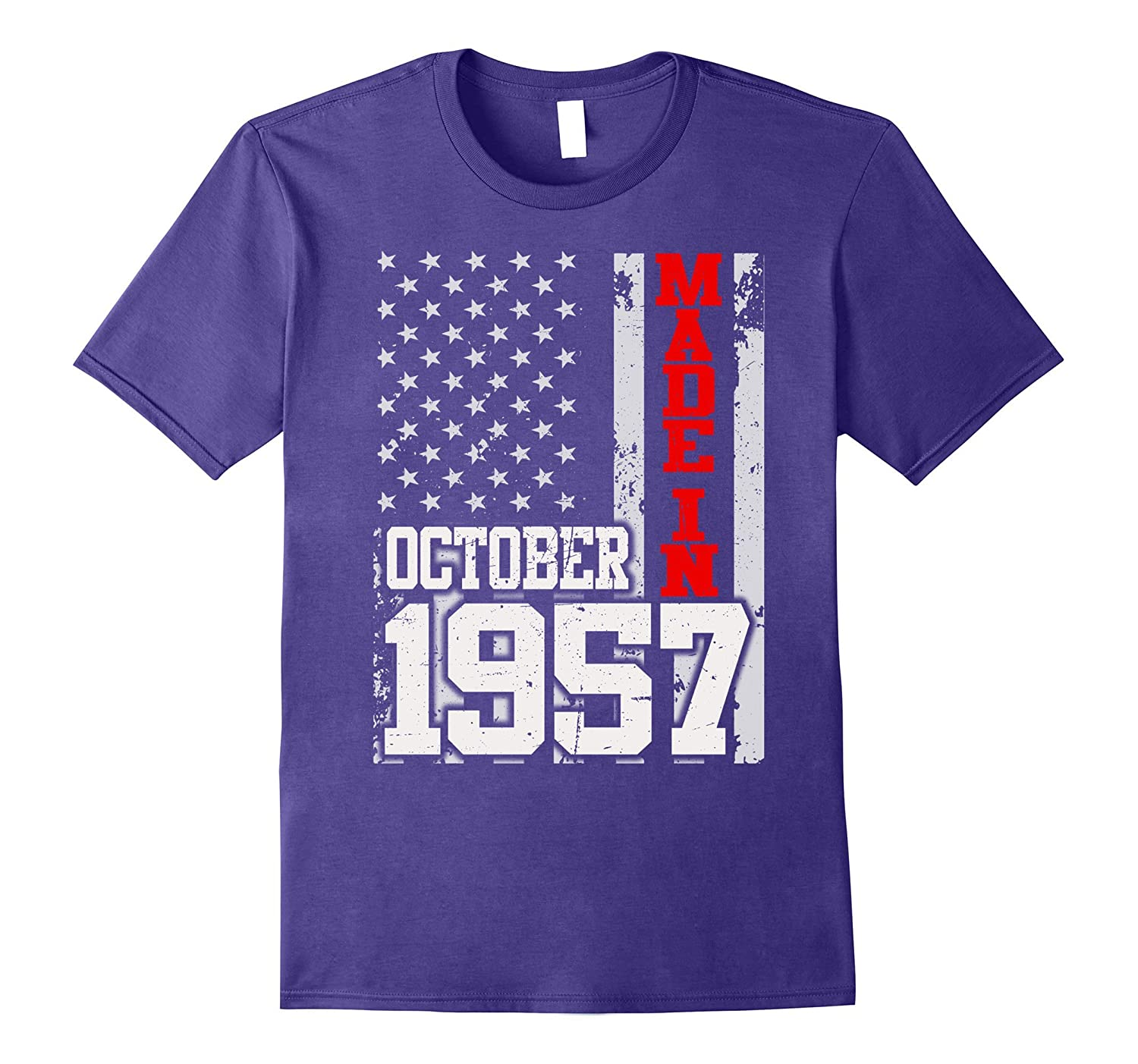 Made In Legends Born In OCTOBER 1957 Gift 60 Years Old 60th-T-Shirt
