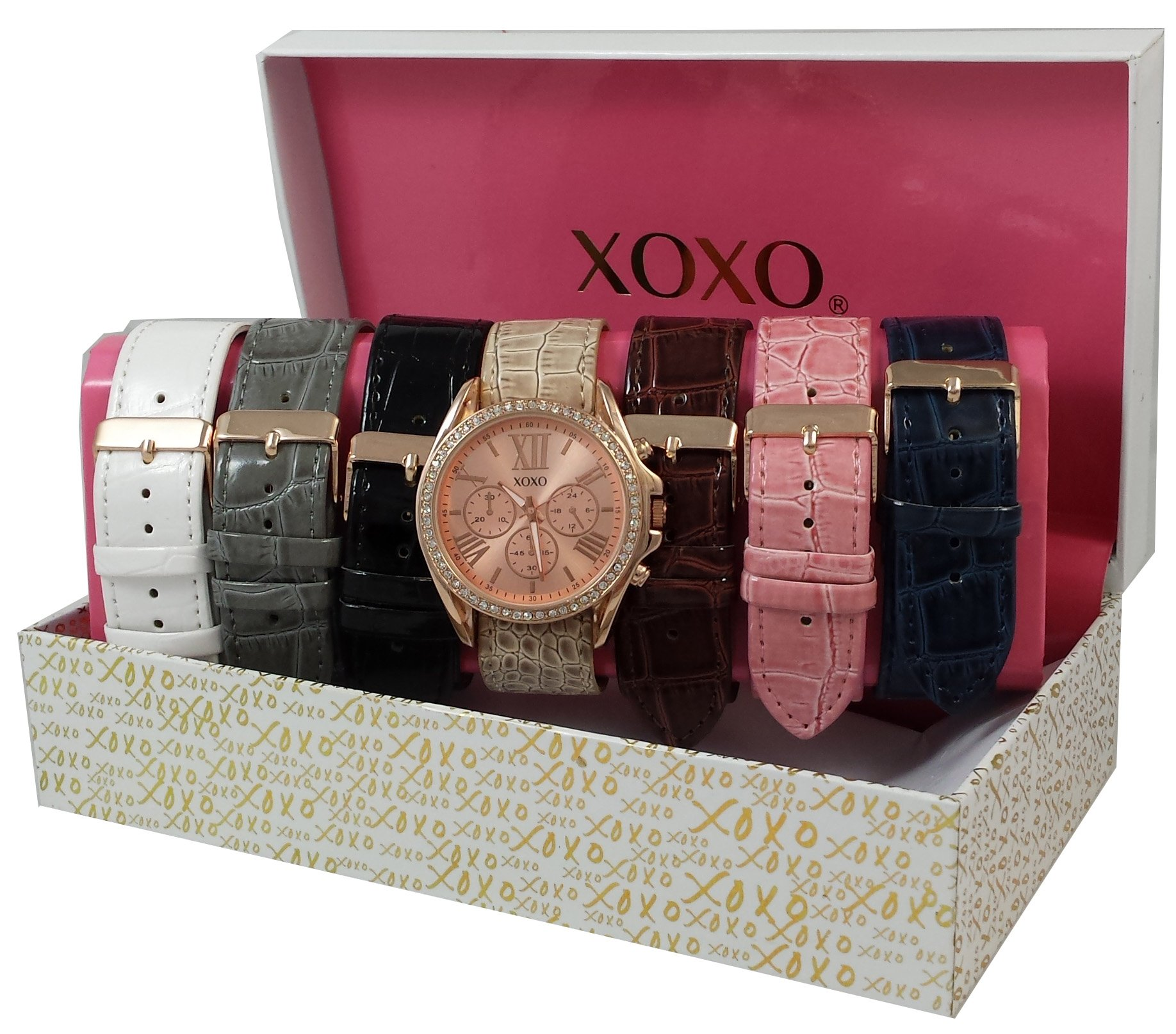 XOXO Women's Seven Color Interchangeable Strap Set Watch
