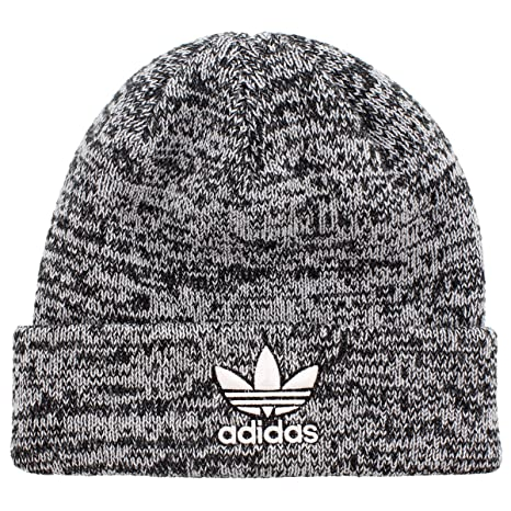 50950c13b0ad8 ... discount code for adidas mens originals trefoil knit beanie black white  marl one size 34fa0 c9269 ...