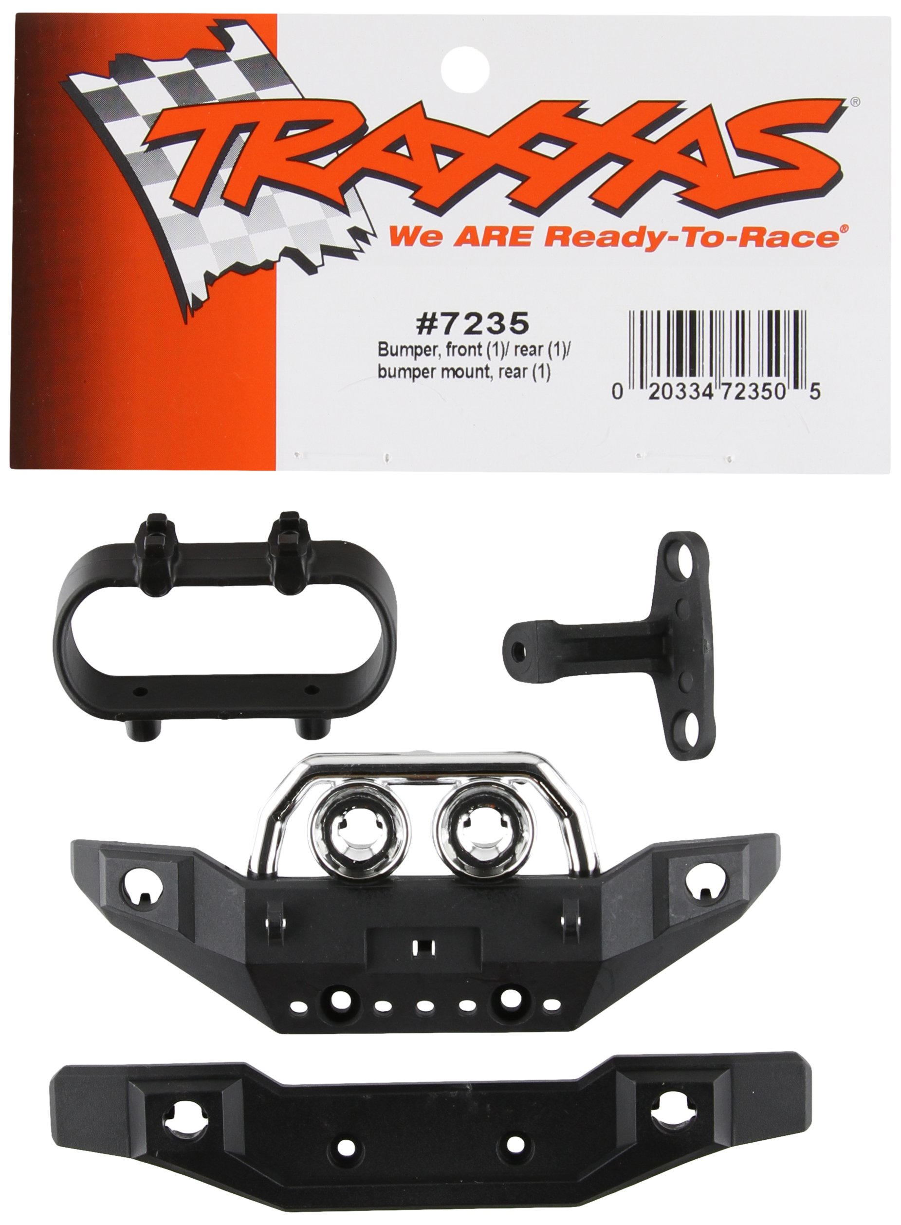 Traxxas 7235 Front and Rear Bumpers and Mounts, 1/16 Summit