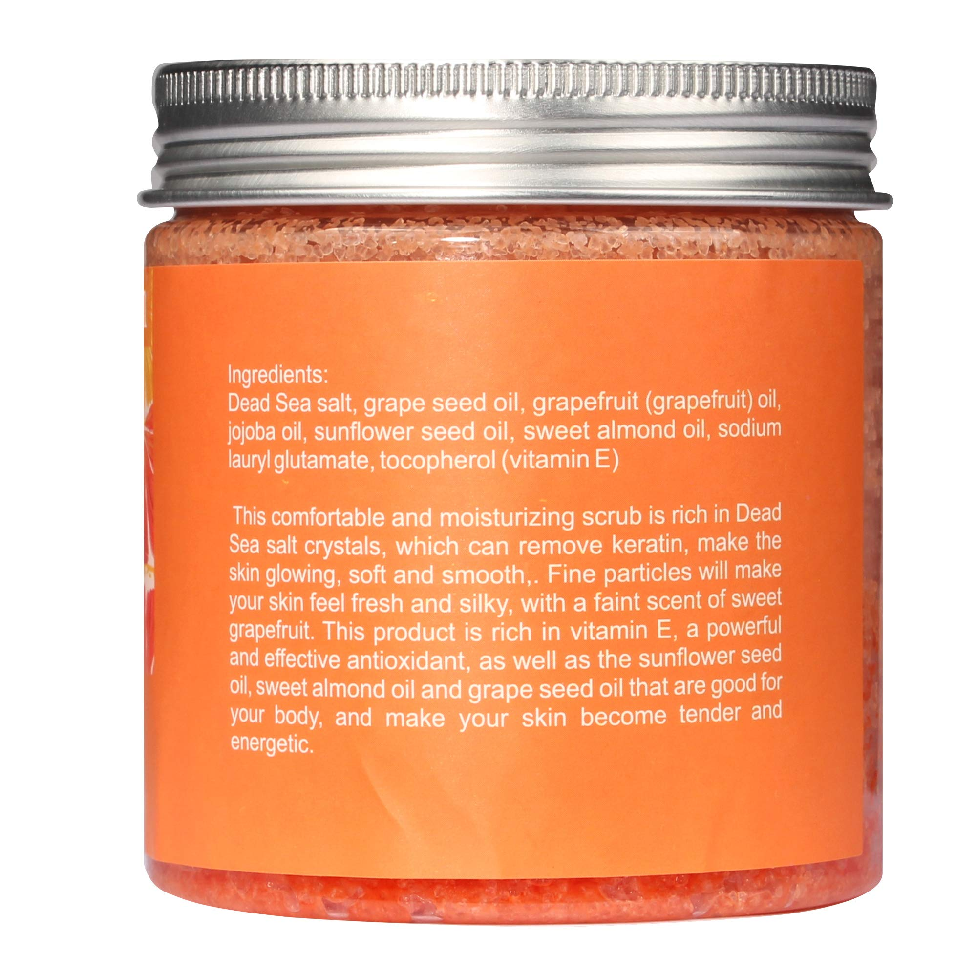 Organic Exfoliating Body Scrub with Essential Oil, Natural Scrub to Exfoliate and Moisturize Skin
