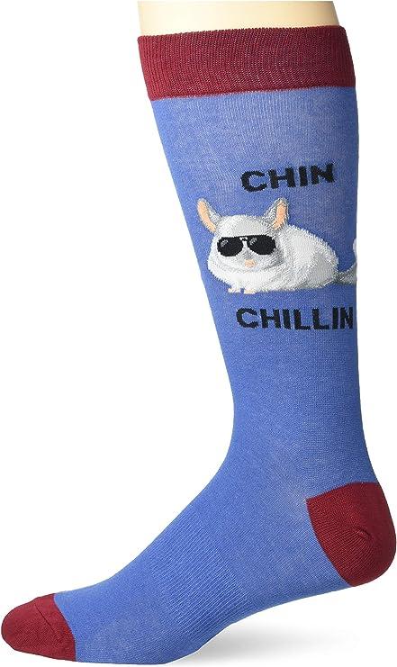 K.Bell Men/'s Pair Socks Chubby Unicorn with Glasses Cotton Blend Mens Socks New