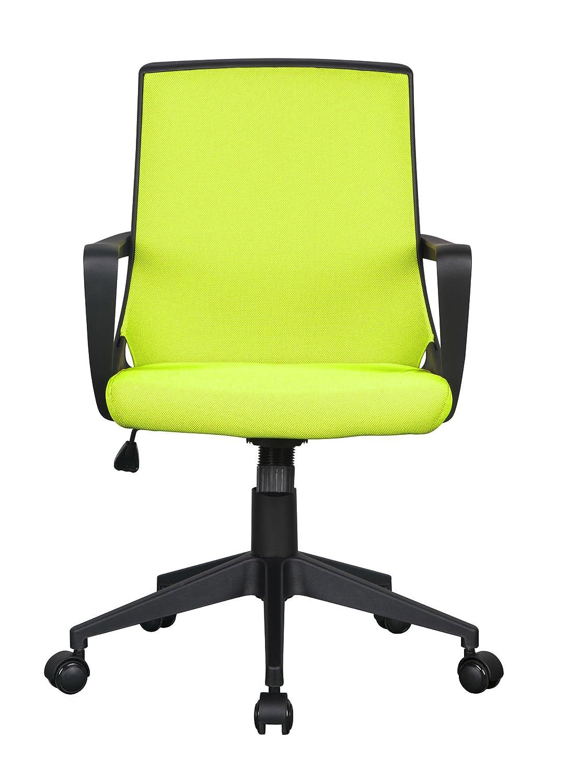 SixBros. Poltrona sedia ufficio sedia girevole stoffa arancio/nero 0722M/2248