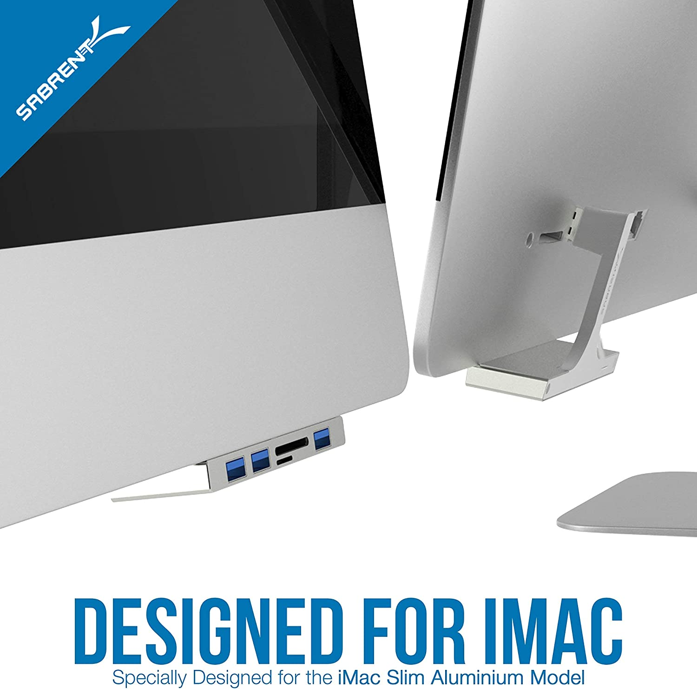 Alcey Hub USB 3.0 de 3 puertos con lector de tarjetas Multi-en-1 para iMac Slim Unibody 2012 o posterior Dise/ñado Exclusivamente para iMac HB-IMCR