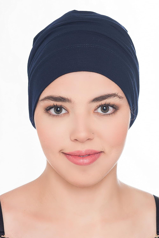 Deresina Headwear Damen /& Herren Haus-Beanie Aus Baumwolle Kappen F/ür Haarverlust Chemo Krebs Schlafm/ütze