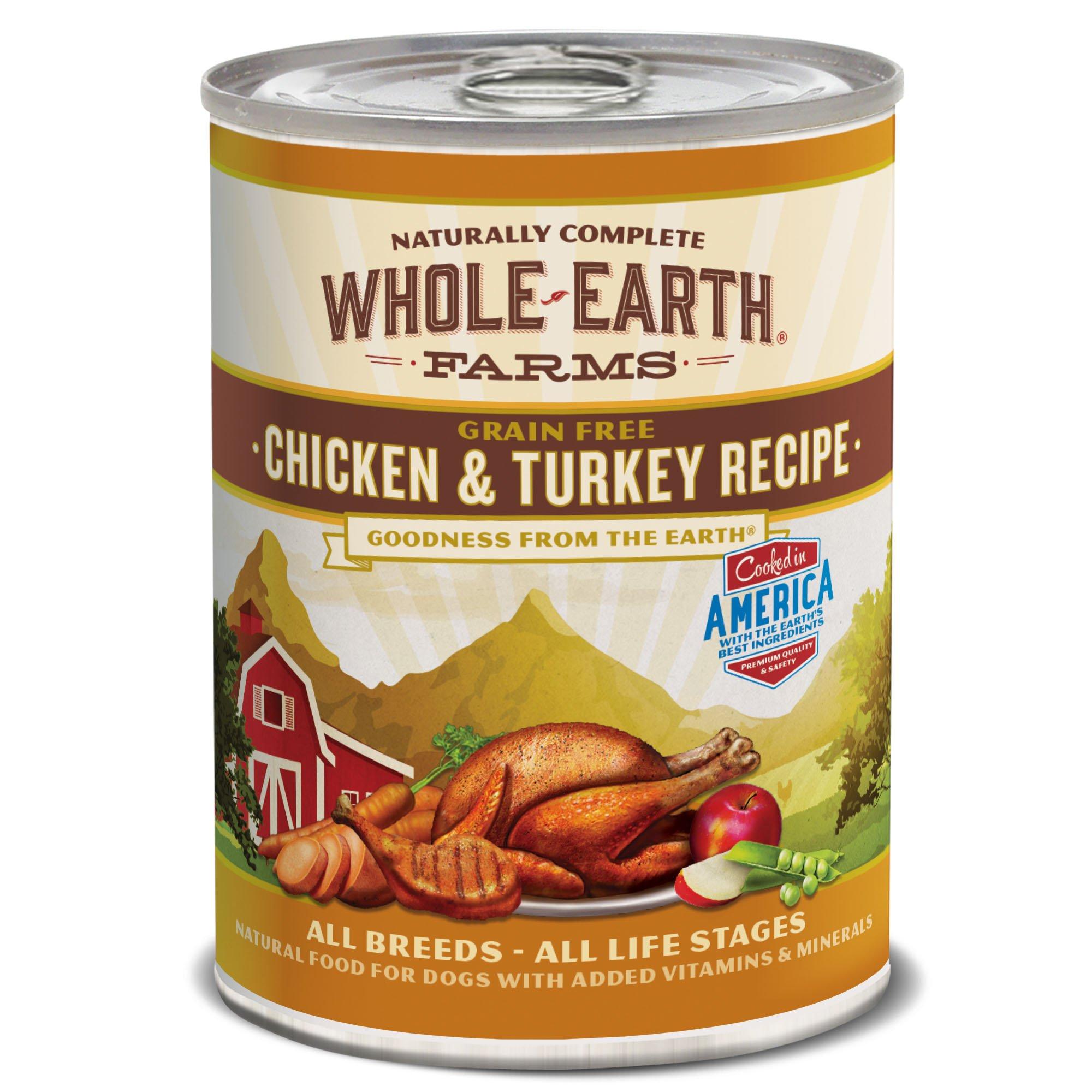 Merrick Whole Earth Farms Grain Free Canned Dog Food, 12.7 oz, 12 Count