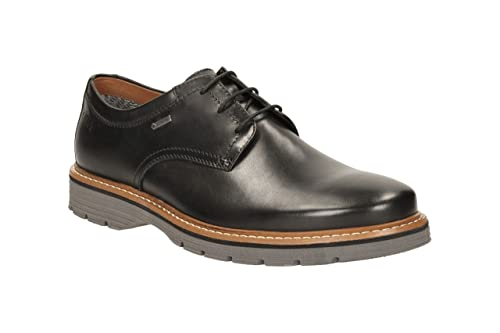 Clarks Newkirk Go GTX Waterproof Black Leather Extralight