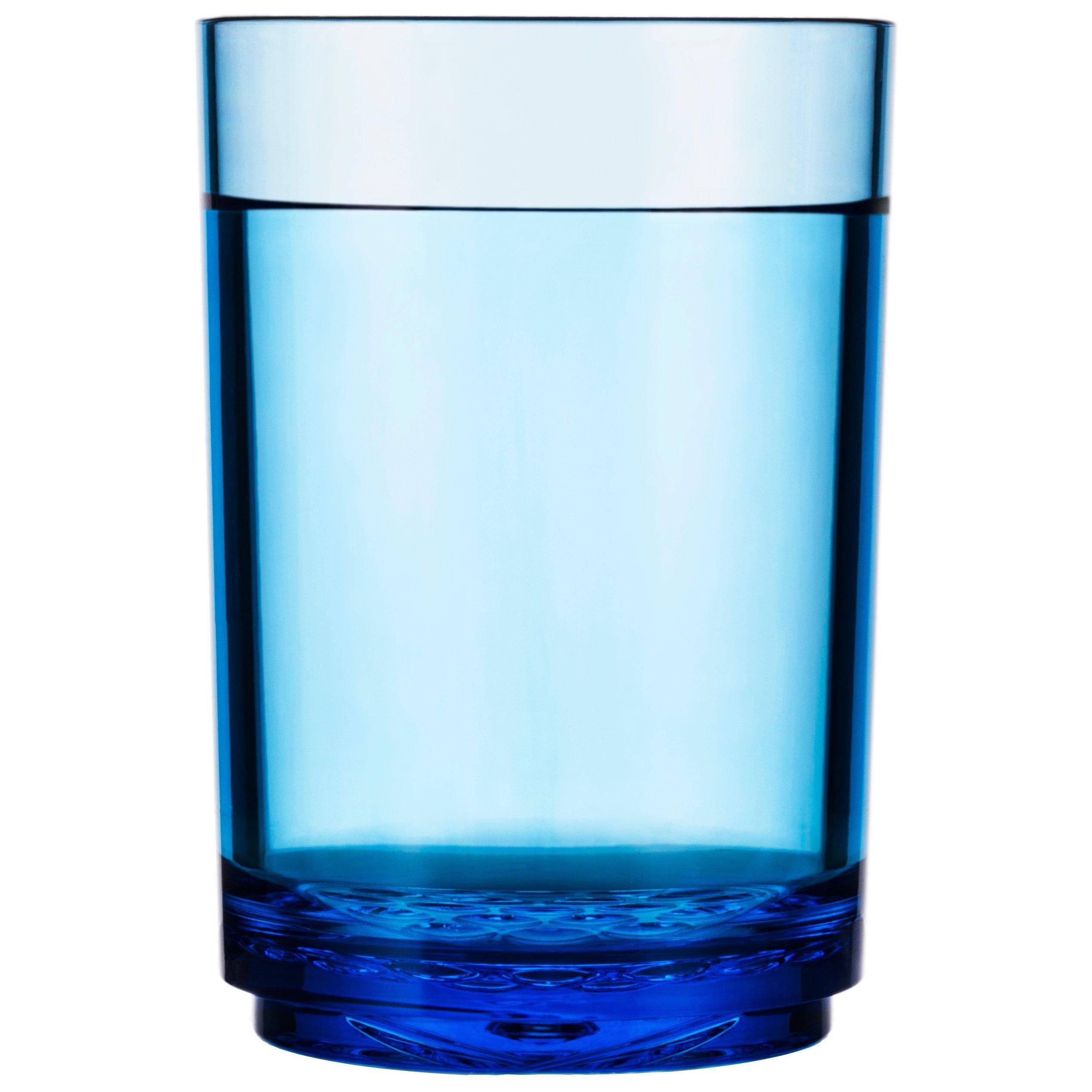 Drinique ELT-PT-BLU-4 Elite Pint Unbreakable Tritan Beer Glasses, 16 oz (Set of 4), Blue