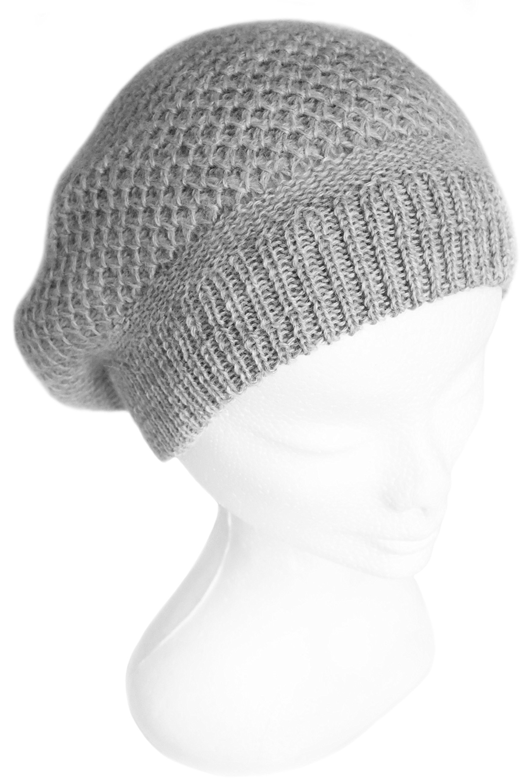 Handmade PURE ALPACA Beret Hat - Soothing Gray (READY TO SHIP) by BARBERY Alpaca Accessories