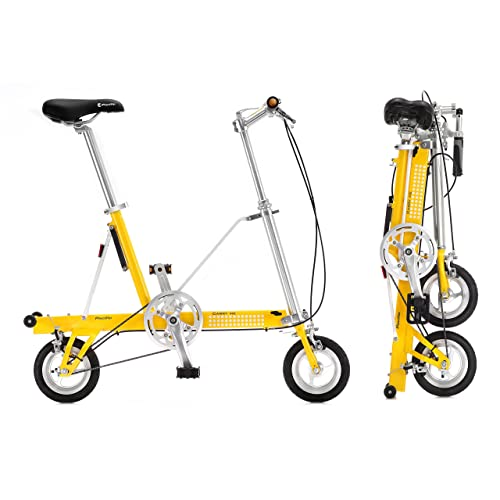 Bicicleta plegable CarryMe DS (Dual Speed) amarilla