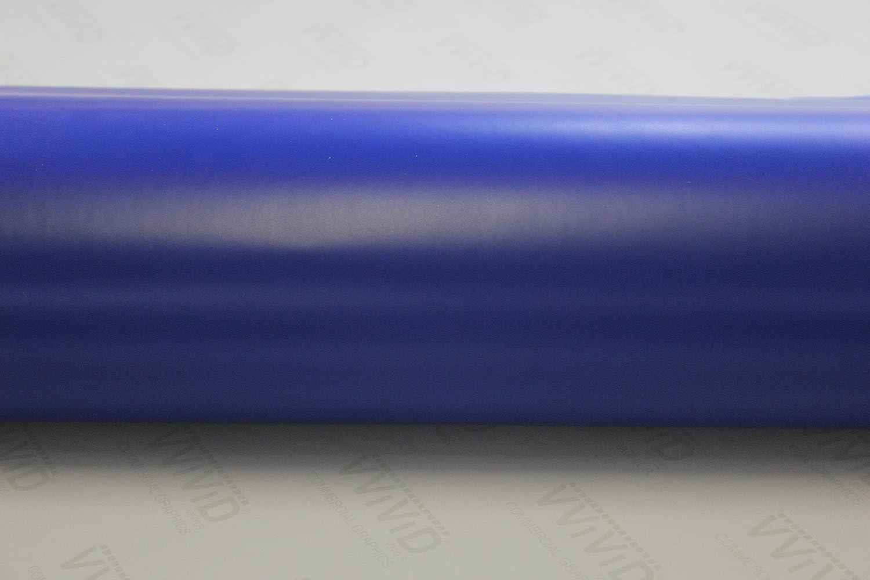 Matte Dark Blue Car Wrap Vinyl Roll with Air Release 3mil-VViViD8 1ft x 5ft