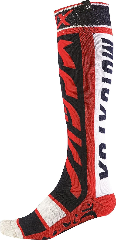 Fox Racing FRI Thin Divizion Men's MotoX Motorcycle Socks - Red / Small Fri Division Thin
