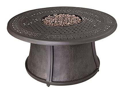 Ashley Furniture Signature Design   Burnella Round Fire Pit Table Base    Outdoor Gas Fired Heater